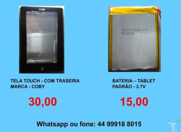 20,00 e 30,00 displays e tela touch