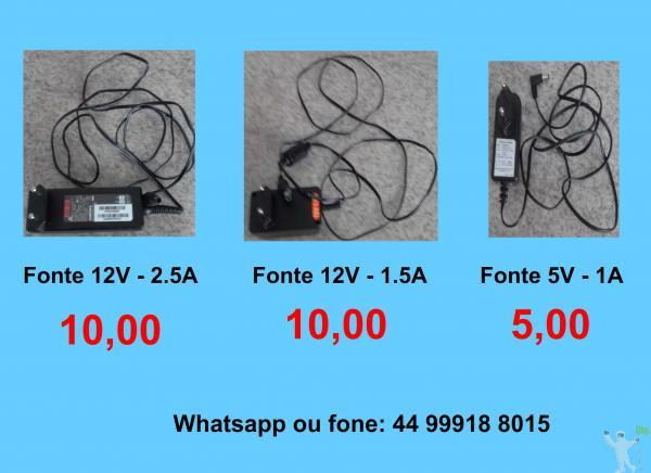 5,00 e 10,00 fontes 12v e 5v