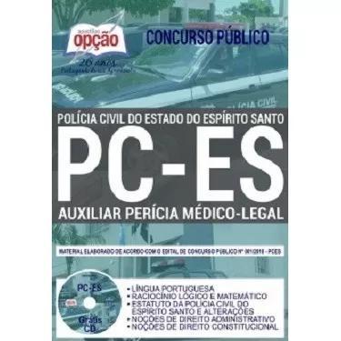 Apostila pc-es 2019 - auxiliar de perícia médico-legal [cd