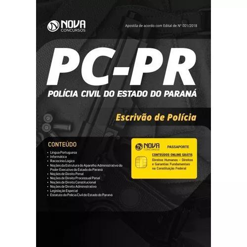 Apostila pc-pr 2018 - escrivão da polícia
