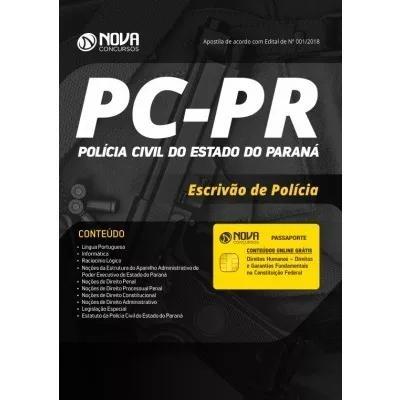 Apostila policia civil-pr cargo de escrivão + curso online