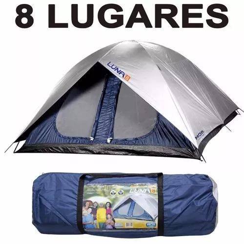Barraca camping grande 8 pessoas impermeavel luna frete grat