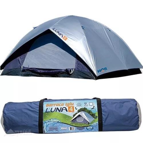 Barraca luna 4 pessoas camping sobreteto + bolsa mor