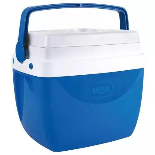 Caixa térmica 12 litros azul com alça mor