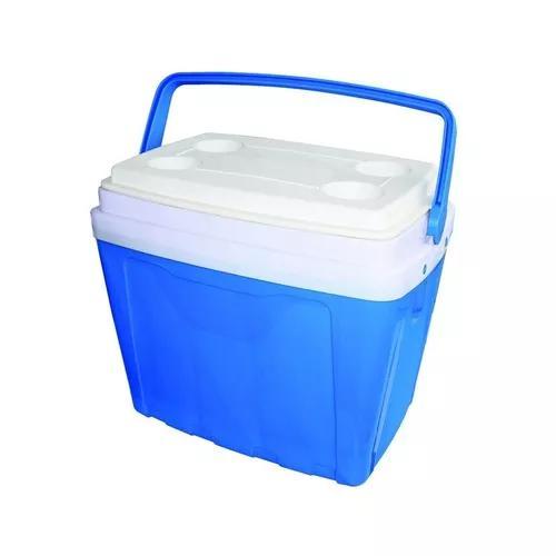 Caixa térmica 34 litros cooler 34l alça e porta copos