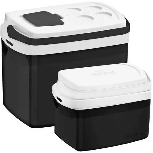 Combo 2 caixa térmica 32, 5 l todas cores cooler soprano