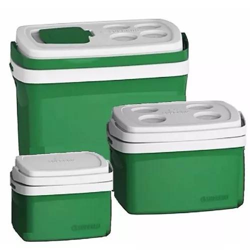 Combo 3 caixa térmica 32, 12, 5 l todas cores cooler