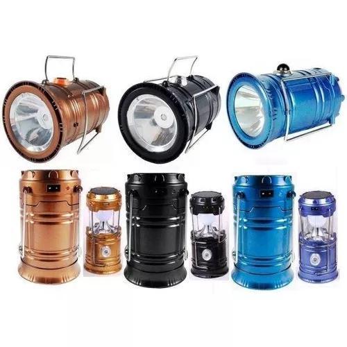 Lampião lanterna luminária recarregável solar led 5700
