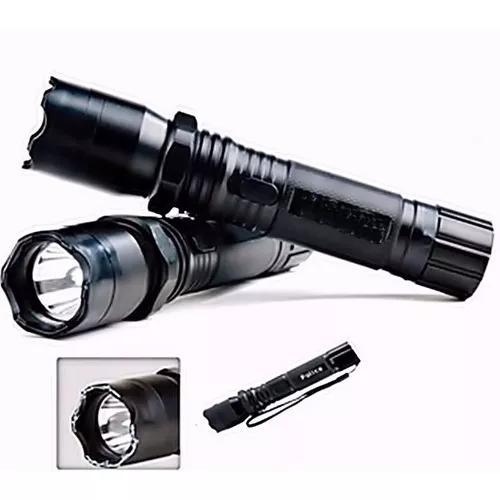Lanterna de choque police recarregavel led cree q6 128.000w