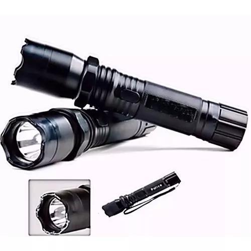 Lanterna tatica de choque potencia 128000w recarregavel poli