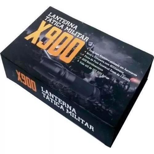 Lanterna tática militar x900 super forte original com led