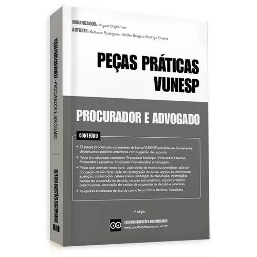 Livro peças práticas vunesp - procurador e advogado - 2018