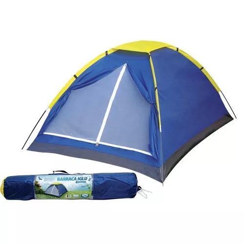 Promoção barraca p/ camping iglu mor 4 pessoas menor