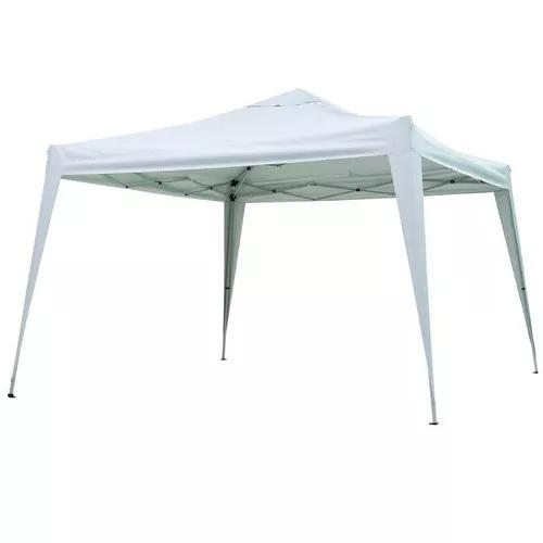 Tenda gazebo dobrável sanfonada 3x3 m branca alumínio