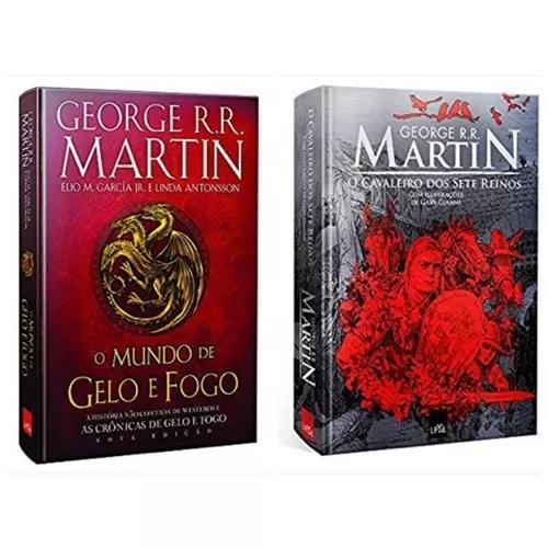 Livro mundo de gelo e fogo luxo + o cavaleiro 7 reinos ilust