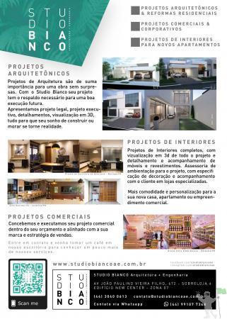 Projetos arquitetonicos e de interiores