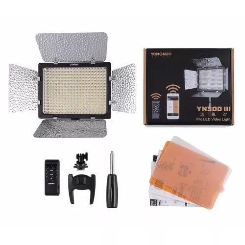 Iluminador led yongnuo yn-300 lll+bat f970+carregador+fonte