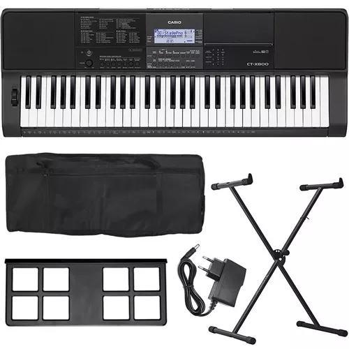 Kit teclado casio ctx 800 ct-x800 ctx800 fonte + acessórios