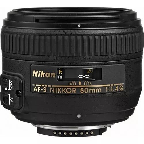 Lente nikon 50mm f/1.4g af-s garantia 1 ano pronta-entrega