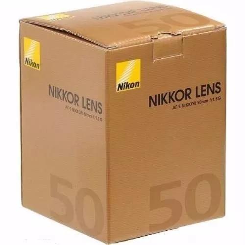 Lente nikon 50mm f/1.8g af-s fx autofoco nikon garantia 1ano