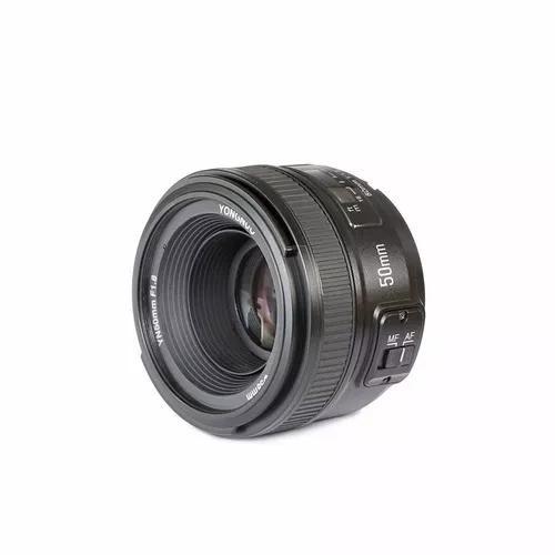 Lente yongnuo 50mm f/1.8 af-s - nikon + garantia nova