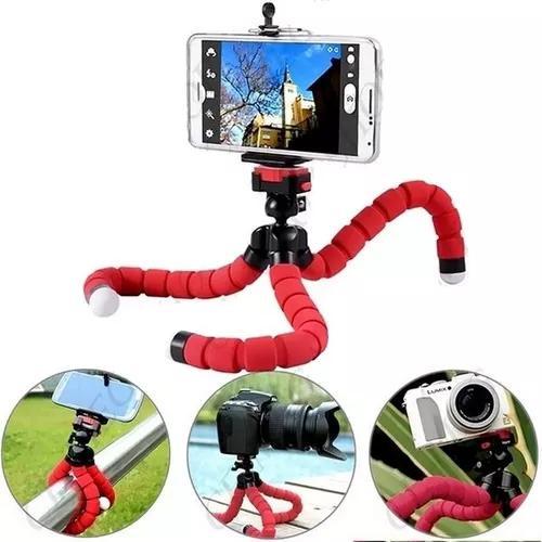 Mini tripe flexível universal p/ câmera celular + suporte