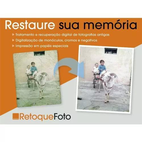 Restauração e tratamento digital de fotos antigas