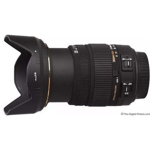Sigma 17-50mm f2.8 ex dc os hsm + parasol (p/ nikon) sj