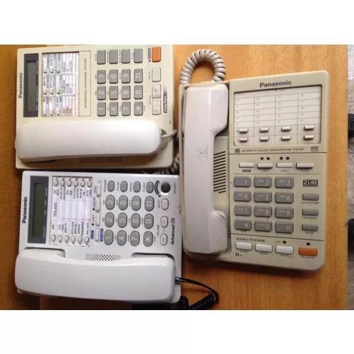 3 telefones panasonic para pabx panasonic