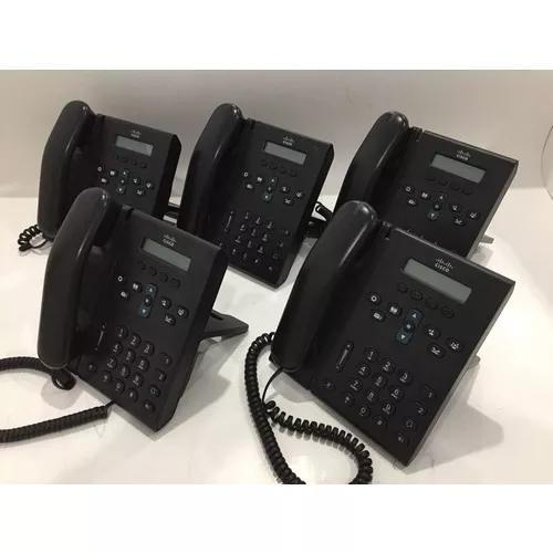 Kit com 05 telefones cisco cp6921 - nf e garantia