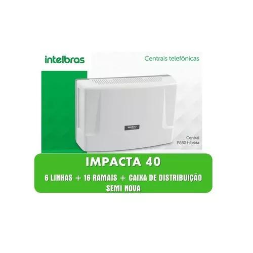 Pabx Intelbras Impacta 40 Com 6 Linhas 16 Ramais S