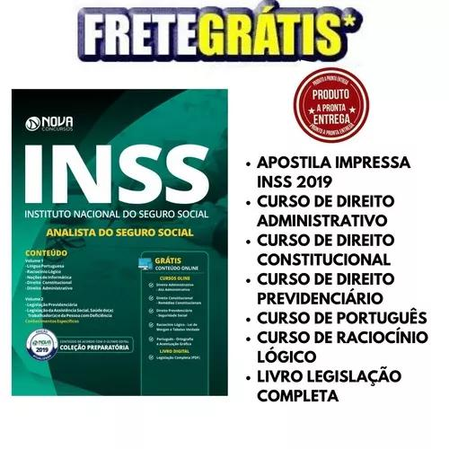 Apostila inss 2019 - analista seguro social - (frete