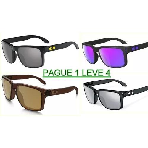 Kit 4 óculos masculino polarizado hlbrok quadrado valentino eda69ce2eb