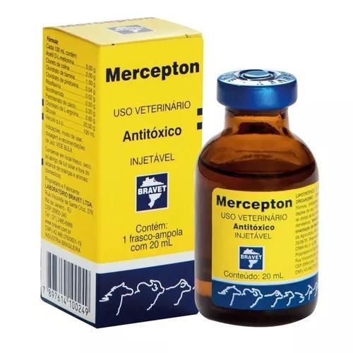 Mercepton injetável 20 ml antitóxico de uso veterinário