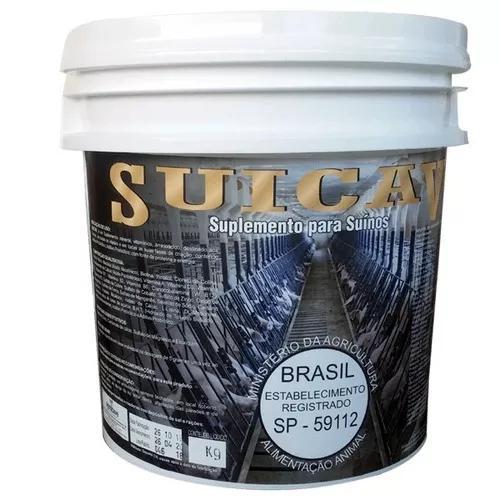Suicav 10 kg p/ misturar na ração suinos agrocave +