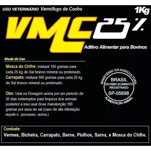 V.m.c. 25% Vermifugo De Cocho (10 Kg)