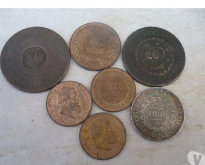 Vendo + 5 kg de moedas antigas de réis desde 1.695 r$6000