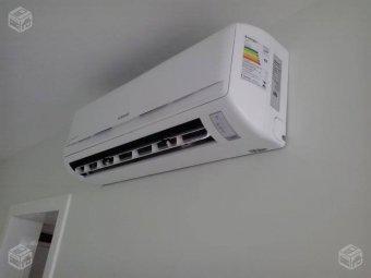 Manutenção e higienização de ar condicionado split em