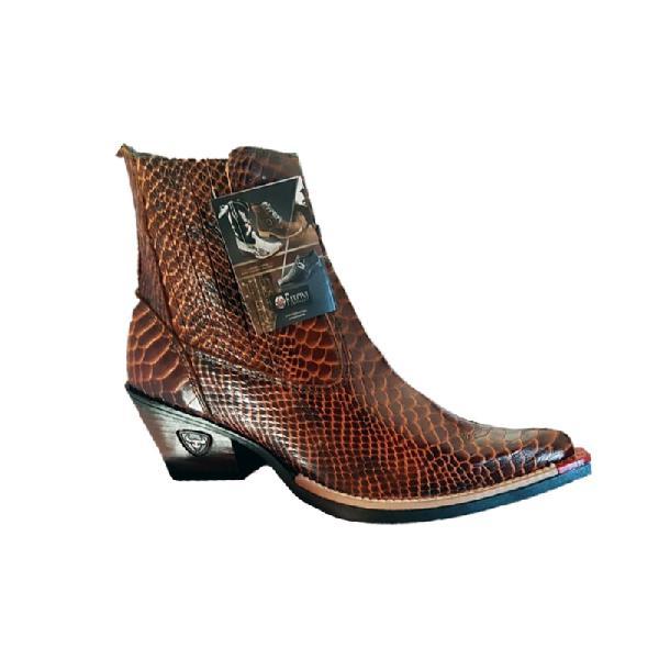 Bota texana masculina country botina bico fino couro verniz