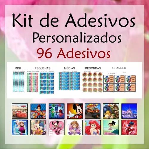 Produção de kits de adesivos / etiquetas personalizadas