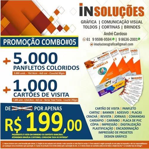 Promoção 5.000 panfletos + 1000 cartões de visita r$