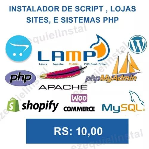Script php, sites loja virtual - instalador