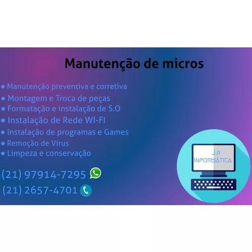 Serviços de manutenção de computadores, instalação de