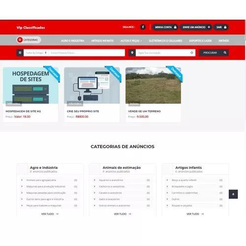 Site classificados completo + instalação