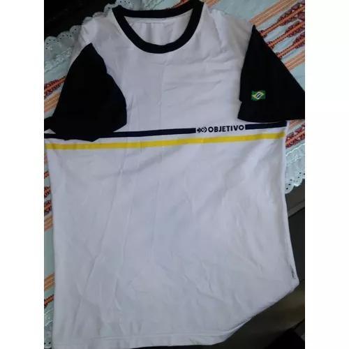 d952b94ce Camiseta branca objetivo tamanho 14 em Brasil   REBAIXAS Maio ...