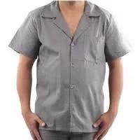 Kit uniforme cinza 12 jaleco manga curta (4 m 4g 4gg)