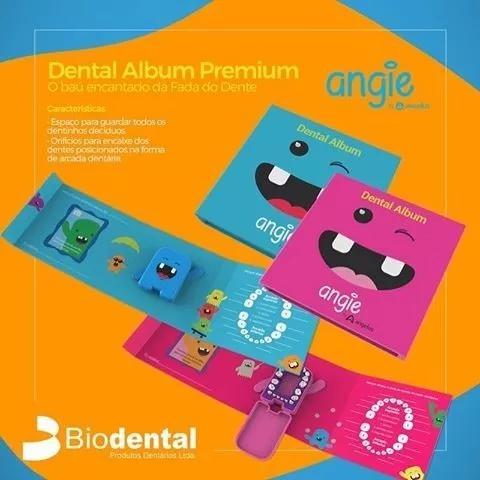 Album dental com caixinha para dentes infantil