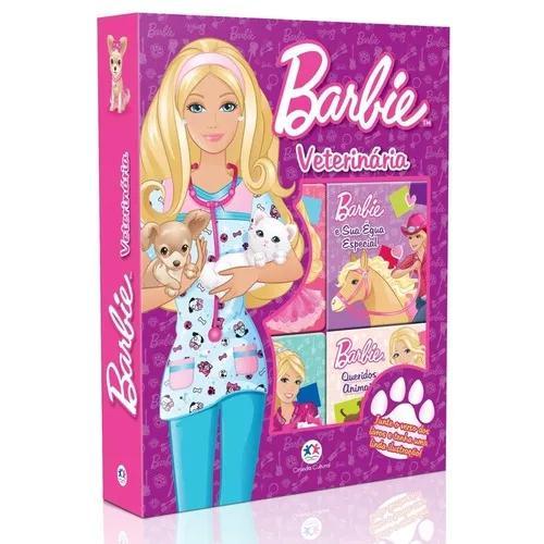 Barbie veterinária - com 6 livros cartonados