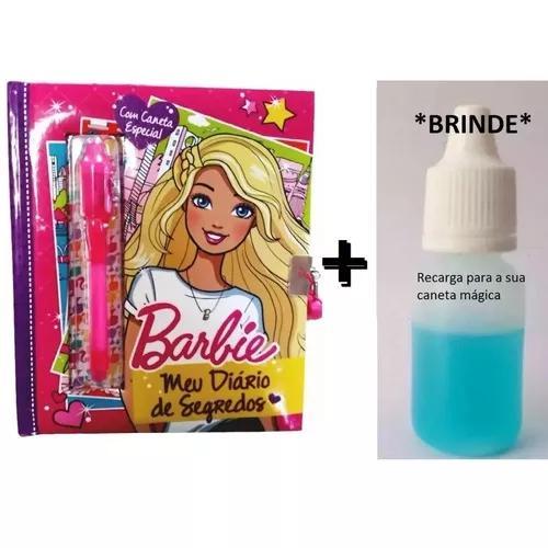 Diário de segredos da barbie - caneta mágica+cadeado e