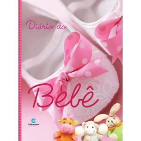 Diários livro do bebê capa dura menina rosa